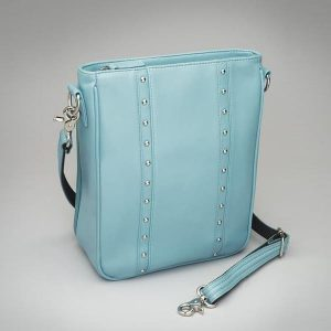 Lambskin Vertical Crossbody – Ice Blue – GTM-35LMB/ICE
