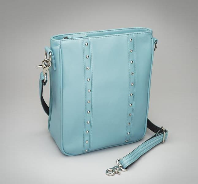 Lambskin Vertical Cross Body