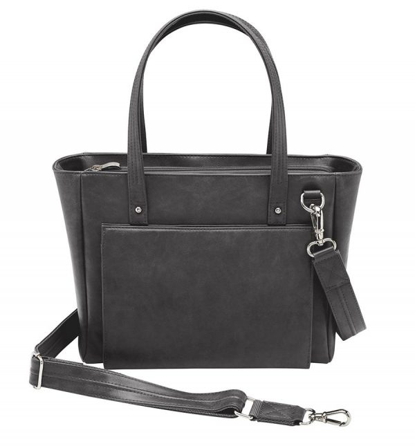 Washable Leather Wallet CCW Tote GTM 86 BK front 56