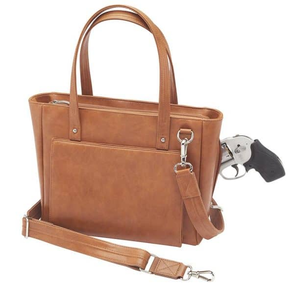 Washable Leather Wallet CCW Tote GTM 86 TN front Wgun 13