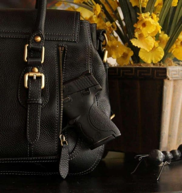 aged black leather satchel 2