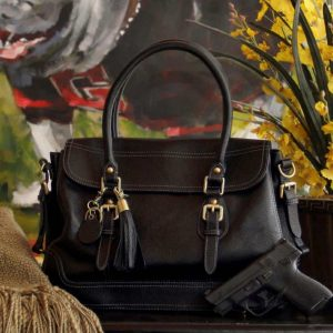 Aged Black Leather Satchel 3
