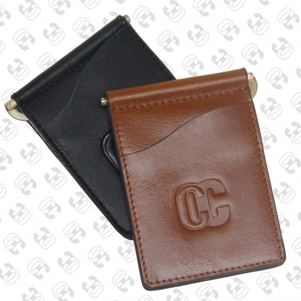 Concealed Cary Men's Money Clips Brown Front