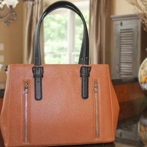 Concealed Carry Purse – Casual Carry Color Block Satchel