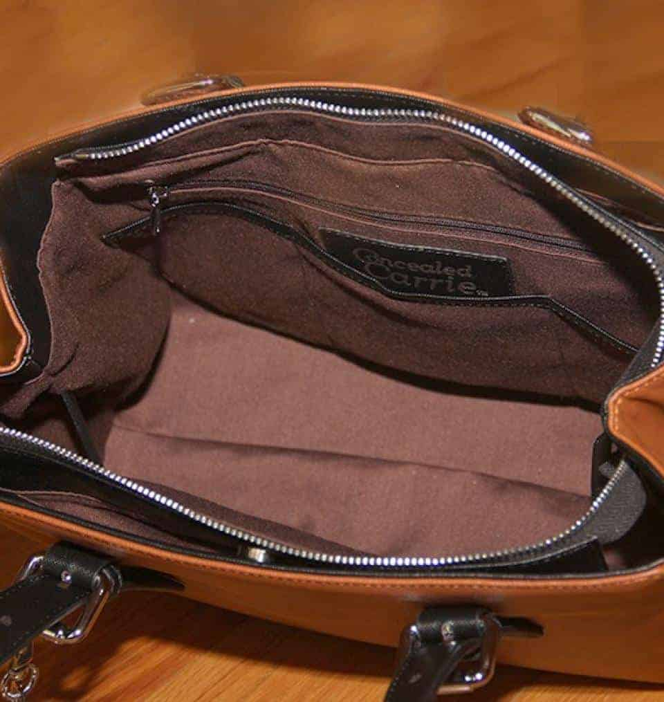 Concealed Carry Purse - Casual Carry Color Block Satchel