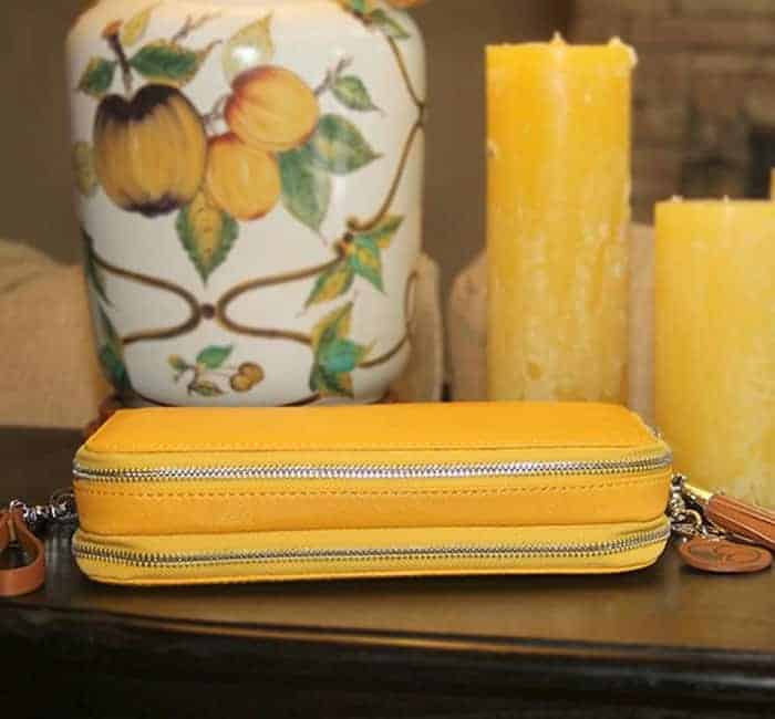 Concealed Carry Purse – Casual Carry Compact Carrie – Mustard