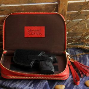 Concealed Carry Purse – Bright Red Leather Compact Carry