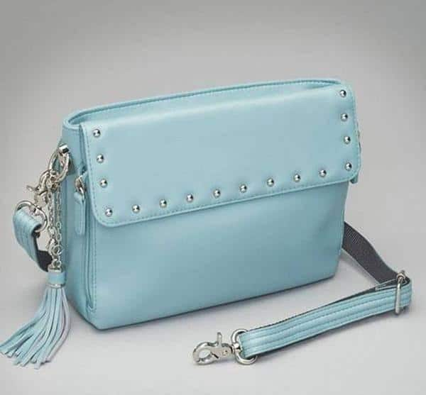 GTM-10 Embroidered Lambskin Ice Blue