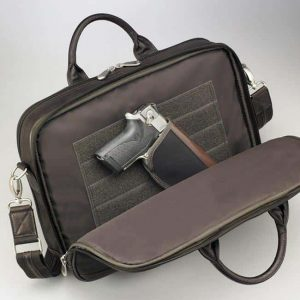Men's Concealed Carry Briefcase – Dark Brown – Gun Tote'n Mamas