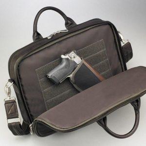 Men's Concealed Carry Briefcase – Dark Brown – Gun Tote'n Mamas