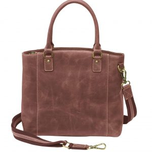 Distressed Buffalo Leather Concealed Carry Town Tote – 4 Colors – Gun Tote'n Mamas