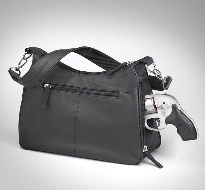 GTM 70 Concealed Carry Basic Hobo Handbag Black