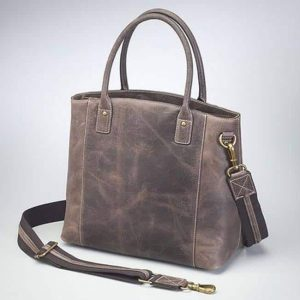 Distressed Buffalo Leather Town Tote