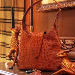 Crocodile Print Leather Hobo Holster Purse By Concealed Carrie
