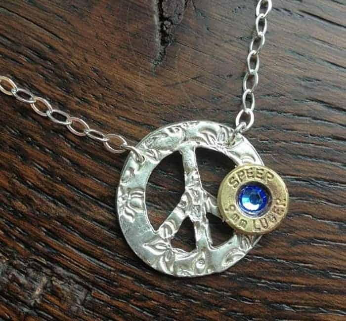 Handmade Personalized PeaceMaker Bullet Necklace Jewelry