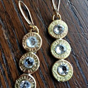 Bullet Casing Jewelry 223 Winchester Case Triple Drop Earrings