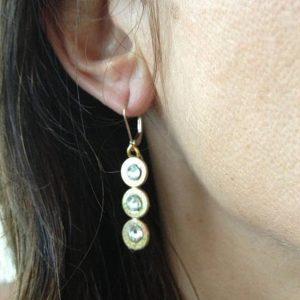 Bullet Casing Jewelry 223 Winchester Case Triple Drop Earrings