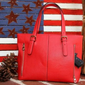 "Our ""Oh So Popular"" Smooth Red Leather Tote"