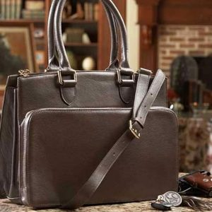 Concealed Carry Purse – Smooth Leather Computer