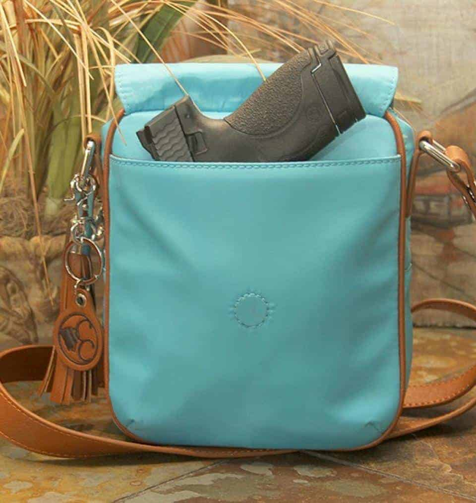 Concealed Carry Purse - Casual Carry Crossbody Compact - Turquoise