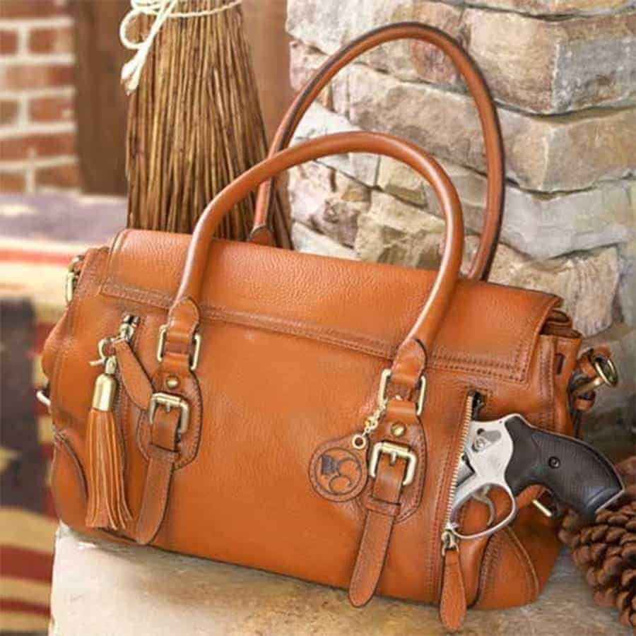 Aged Brown Leather Satchel 1 0