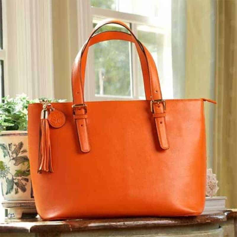 Fall Is Almost Here And Orange Is The New Black With The New Concealed Carrie Smooth Leather Tote