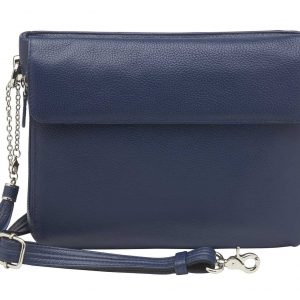 RFID Cross Body CCW Clutch/Purse – Indigo American Cowhide – Gun Tote'n Mamas