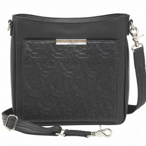Embroidered Lambskin Slim X-Body RFID Purse GTM-98LMB