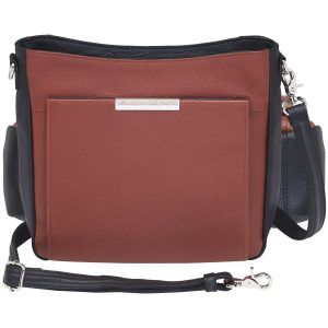 Cinnamon & Black Slim Crossbody Purse GTM-98/CINM.BK