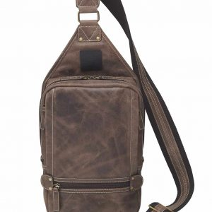Sling Backpack – NEW! Distressed Buffalo Leather!
