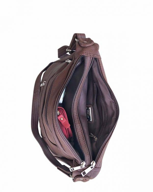 Patch Leather Concealed Carry Crossbody Bag Black inside Roma Leather