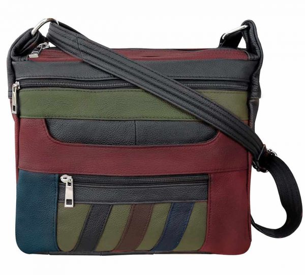 Patch Leather Concealed Carry Crossbody Bag Multi Roma Leather