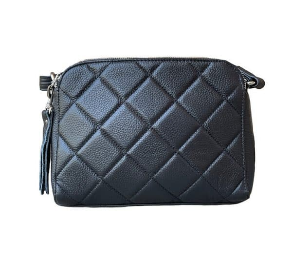 Black Compact Leather Concealed Carry Purse 7048 Roma Leathers