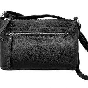 Black Compact Leather Concealment Purse 7013 R Roma Leathers