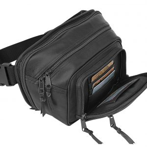 Compact Leather Concealed Carry Waist Pack