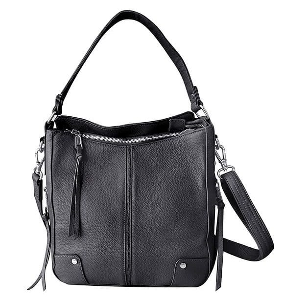 Black Cowhide Leather Concealed Carry Purse 7035 R Roma Leathers