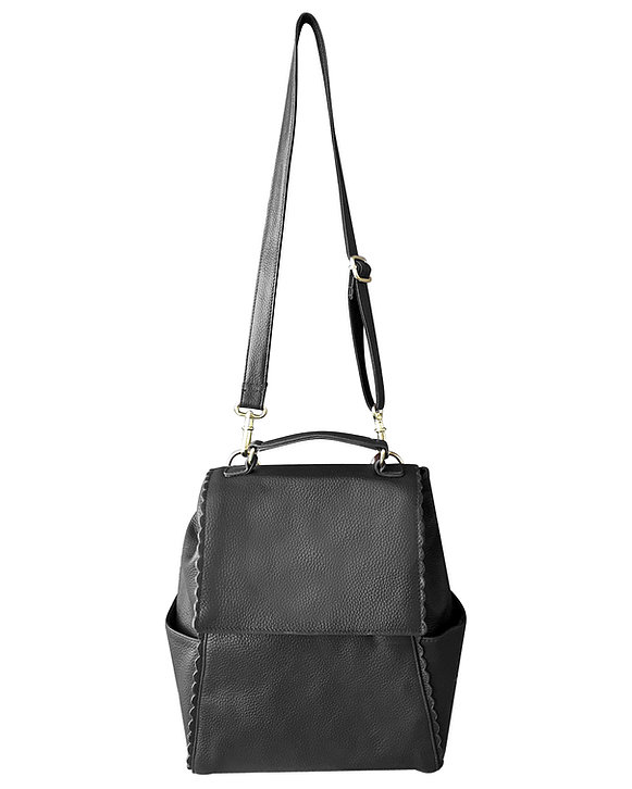 Black Leather Backpack Concealed Carry Purse 7049 Roma Leathers