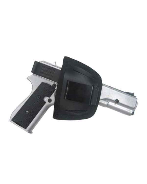 Black Leather Belt Holster 7012 R Roma Leather
