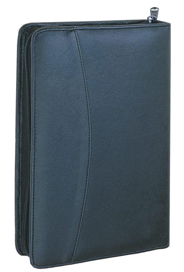 Black Single Zipper Concealment Organizer 7757 R Roma Leather