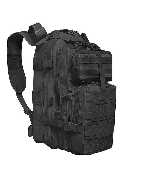 Black Tactical Backpack 6009 Roma Leather