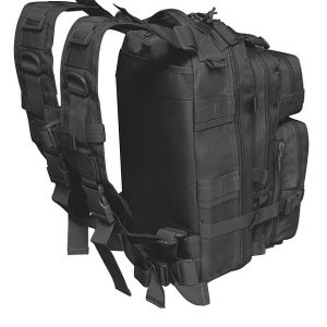 Black Tactical Backpack 6009 Back Roma Leather