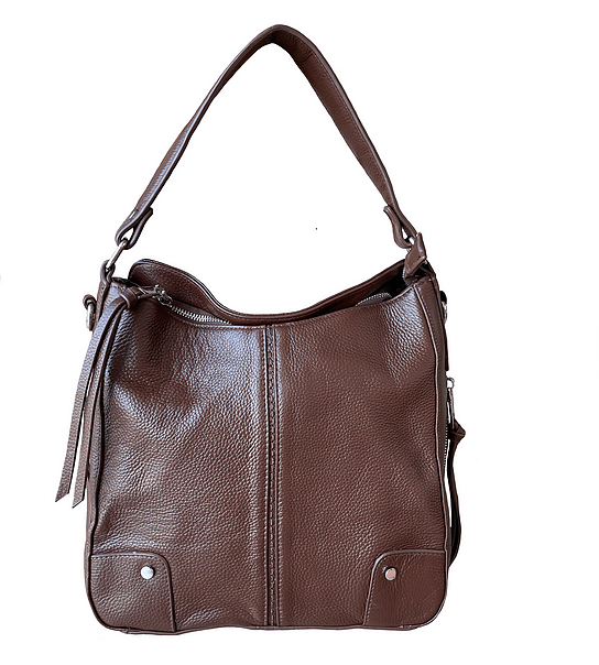 Brown Cowhide Leather Concealed Carry Purse 7035 R Roma Leathers