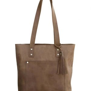 Distressed Leather Concealed Carry Tote