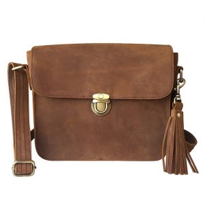 Brown Leather Cross Body Concealed Carry Bag 9008 Roma Leathers