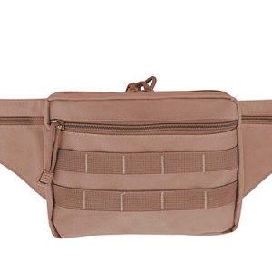 Brown Tactical Waist Pack 6502 Roma Leather