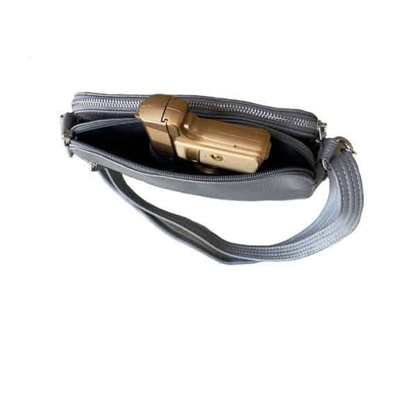Compact Leather Concealed Carry Purse 7048 firearm Roma Leathers