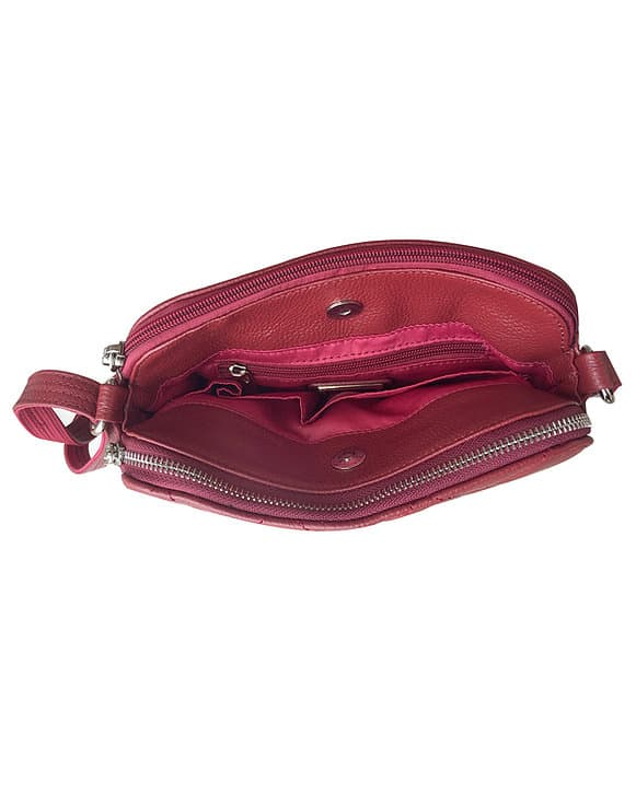 Compact Leather Concealed Carry Purse 7048 inside Roma Leathers