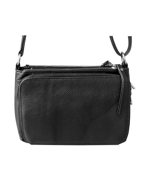 Compact Leather Concealment Purse 7013 R back Roma Leathers