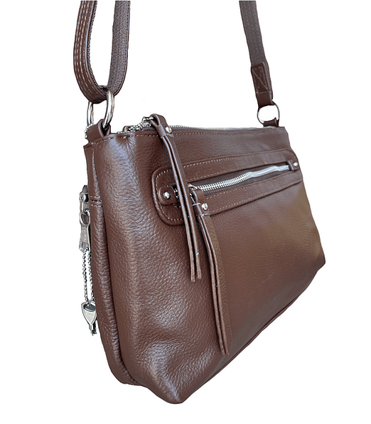 Compact Leather Concealment Purse 7013 R side Roma Leathers