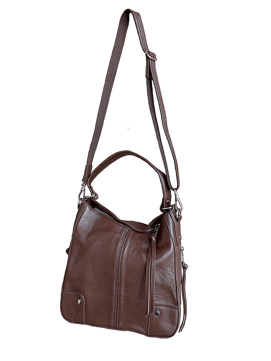 Cowhide Leather Concealed Carry Purse 7035 R back Roma Leathers